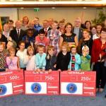 OB Paß mit den Gewinnern und Sponsoren des 10.pbSZ 2015 (Foto Peter Prengel - Stadt Essen)
