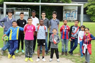 Sport mit Flüchtlingskindern Gym Nord-Ost (Foto Hendrik Rathmann)